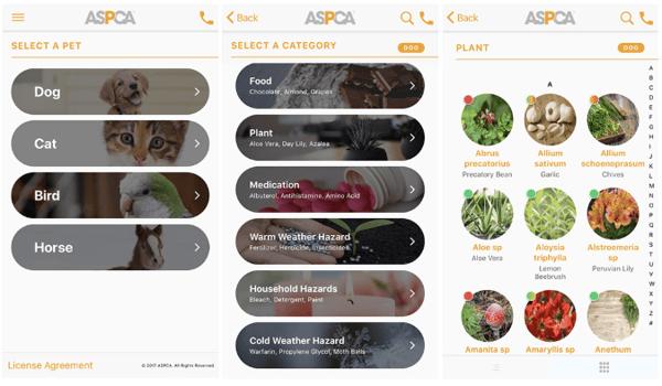 ASPCA Animal Poison Control Mobile App