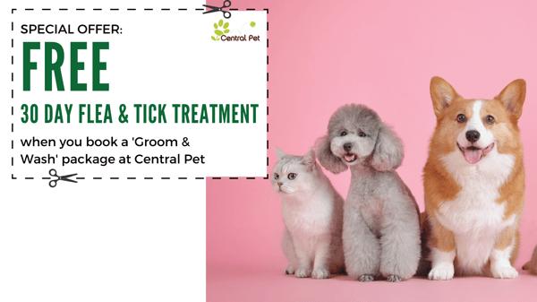 Central Pet Coupon for flea & tick treatment