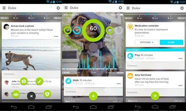 Whistle a pet tracker app